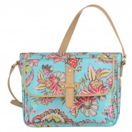 Oilily Summer Flowers Schultertasche S (Small) Aqua