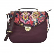 Oilily French Paisley Schultertasche M (Mittel) Solid Burgundy