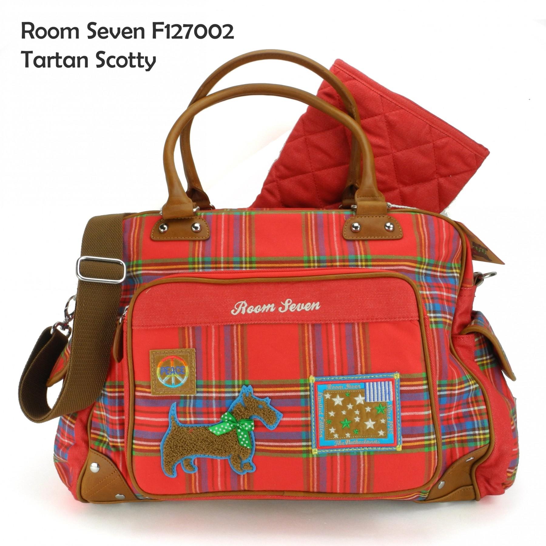room seven wickeltasche tartan scotty diaperbag f127004 ebay. Black Bedroom Furniture Sets. Home Design Ideas
