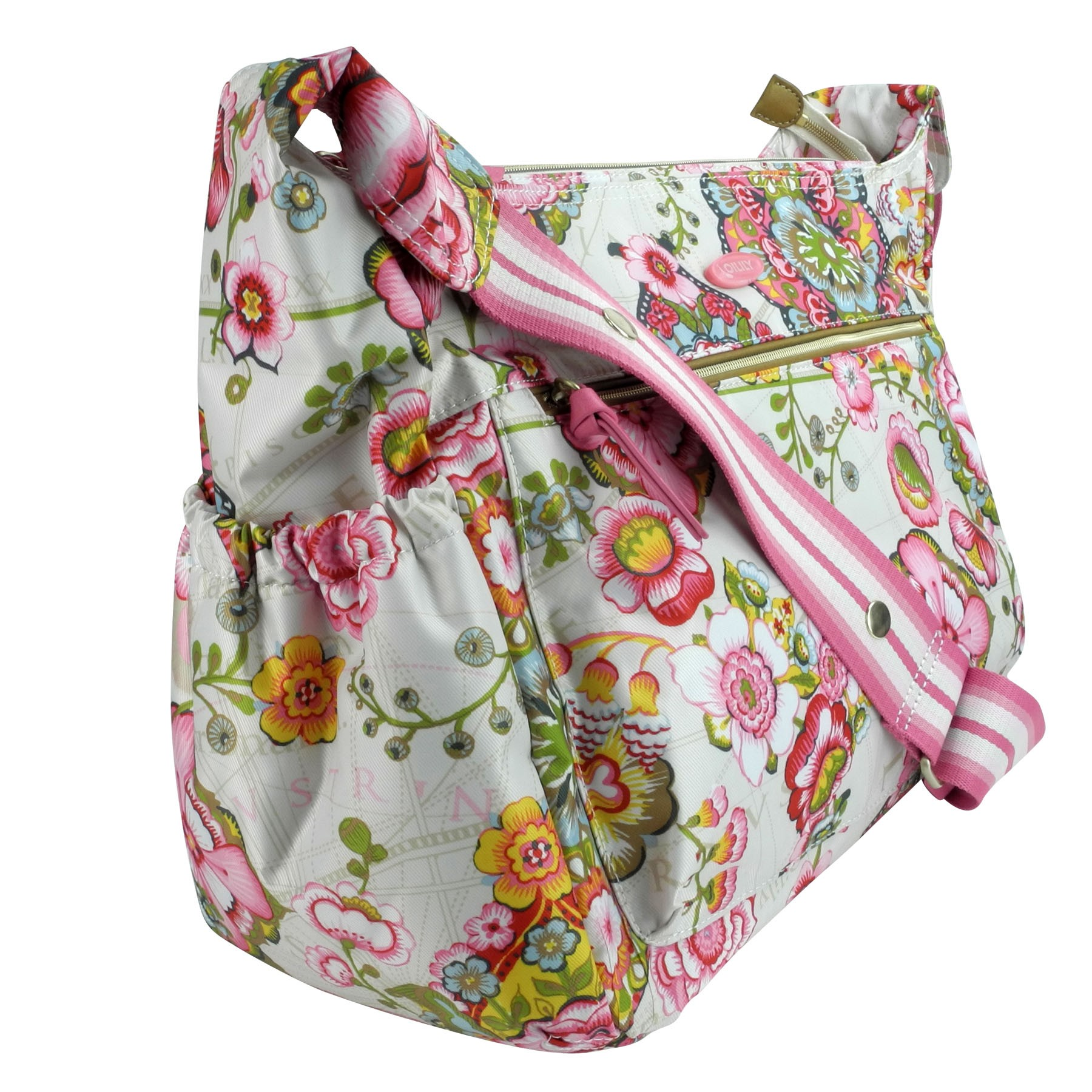 oilily wickeltasche baby bag fantasy flora cream ebay. Black Bedroom Furniture Sets. Home Design Ideas