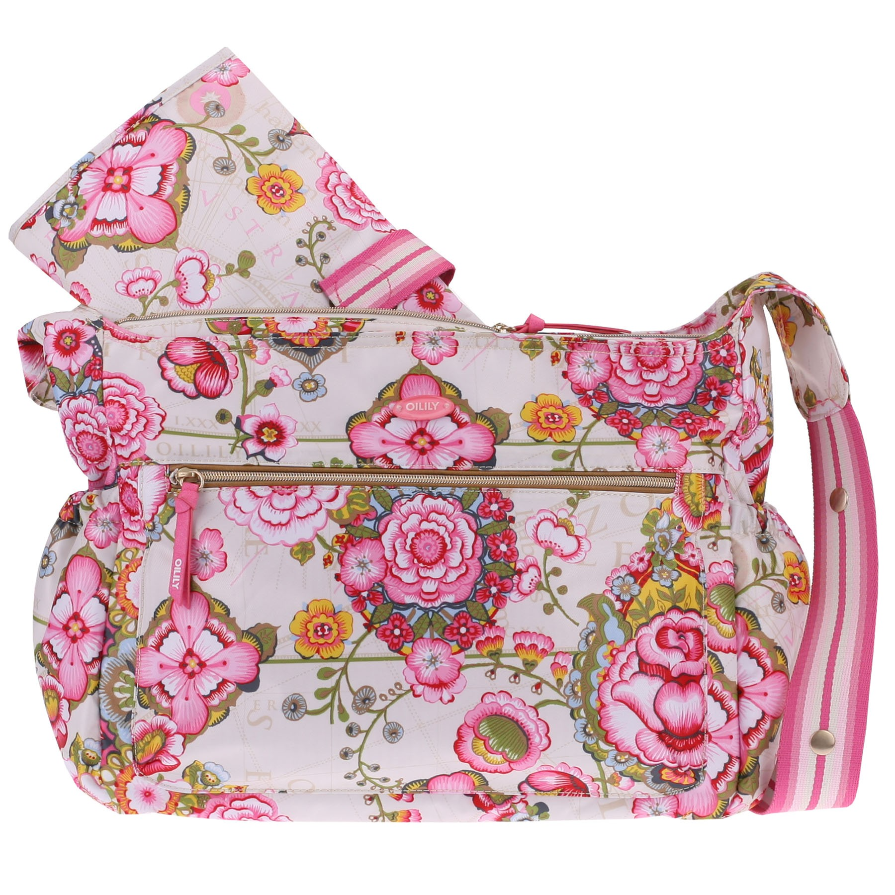 oilily wickeltasche baby bag fantasy flora cream ebay. Black Bedroom Furniture Sets. Home Design Ideas