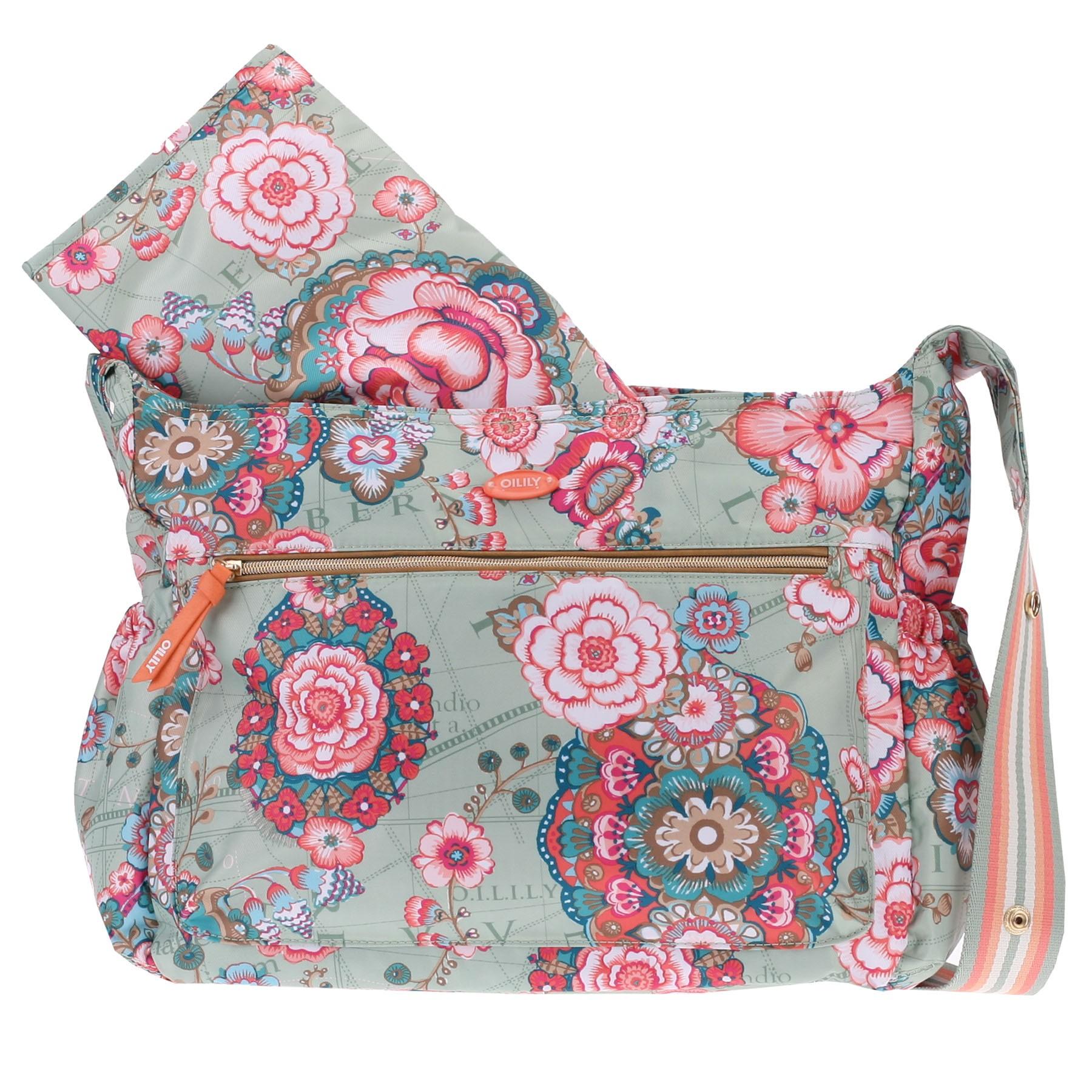 oilily wickeltasche baby bag fantasy flora pistachio ebay. Black Bedroom Furniture Sets. Home Design Ideas