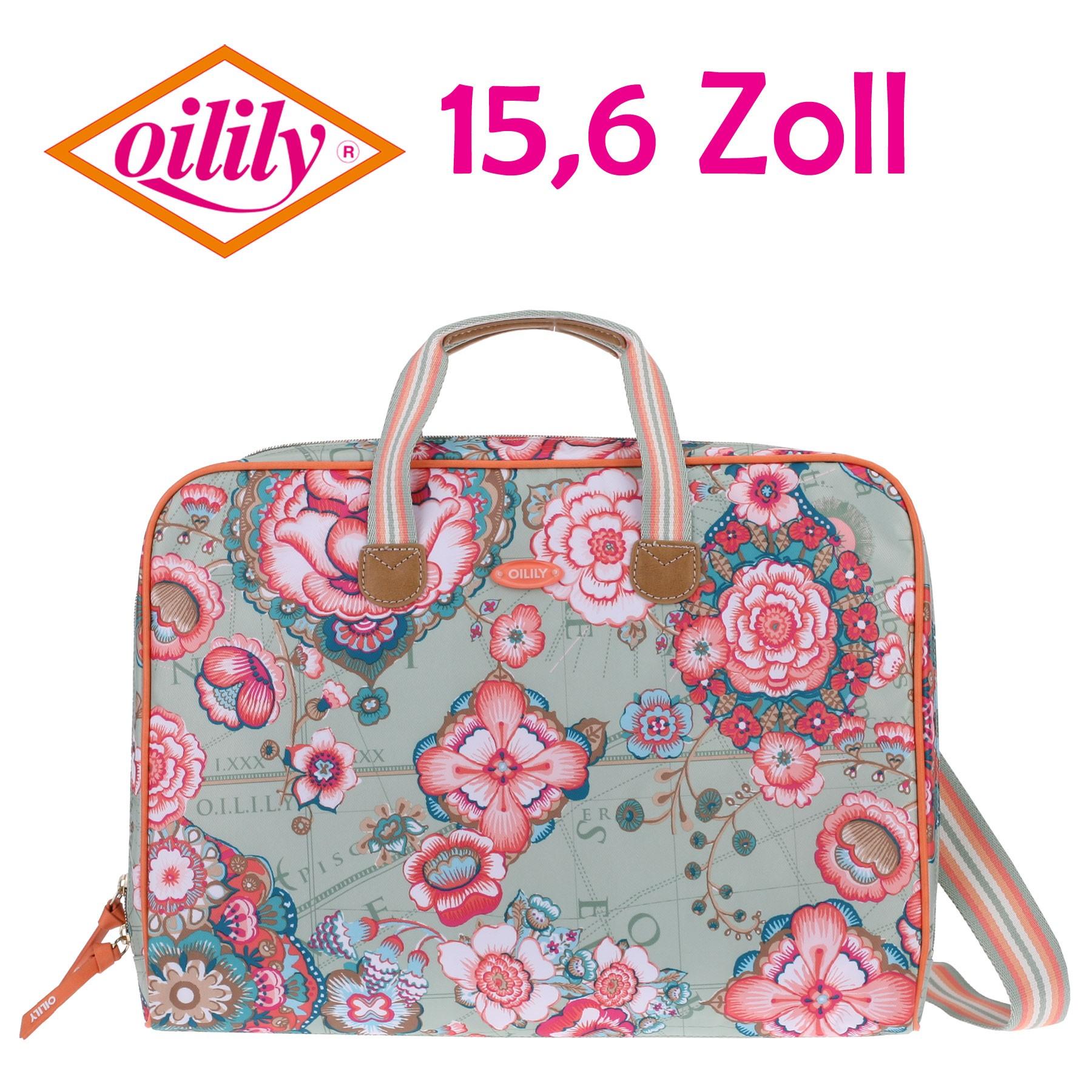 oilily laptoptasche laptop bag 15 6 zoll fantasy flora. Black Bedroom Furniture Sets. Home Design Ideas