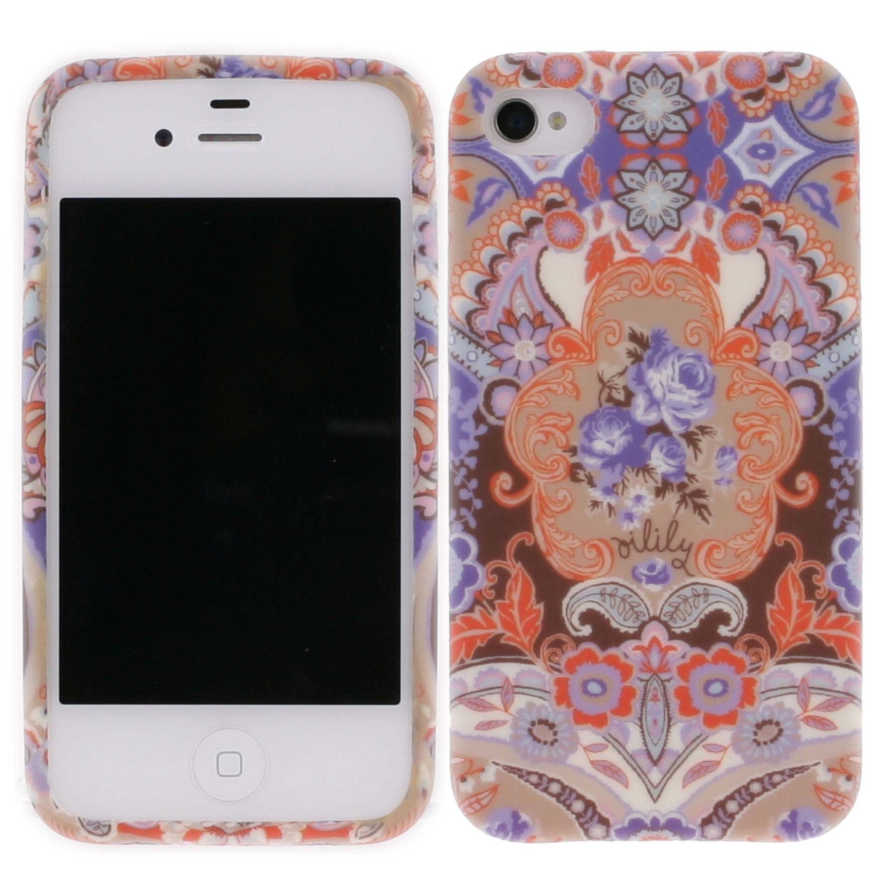 oilily iphone 4 4s h lle case hardcase summer mosaic fig. Black Bedroom Furniture Sets. Home Design Ideas