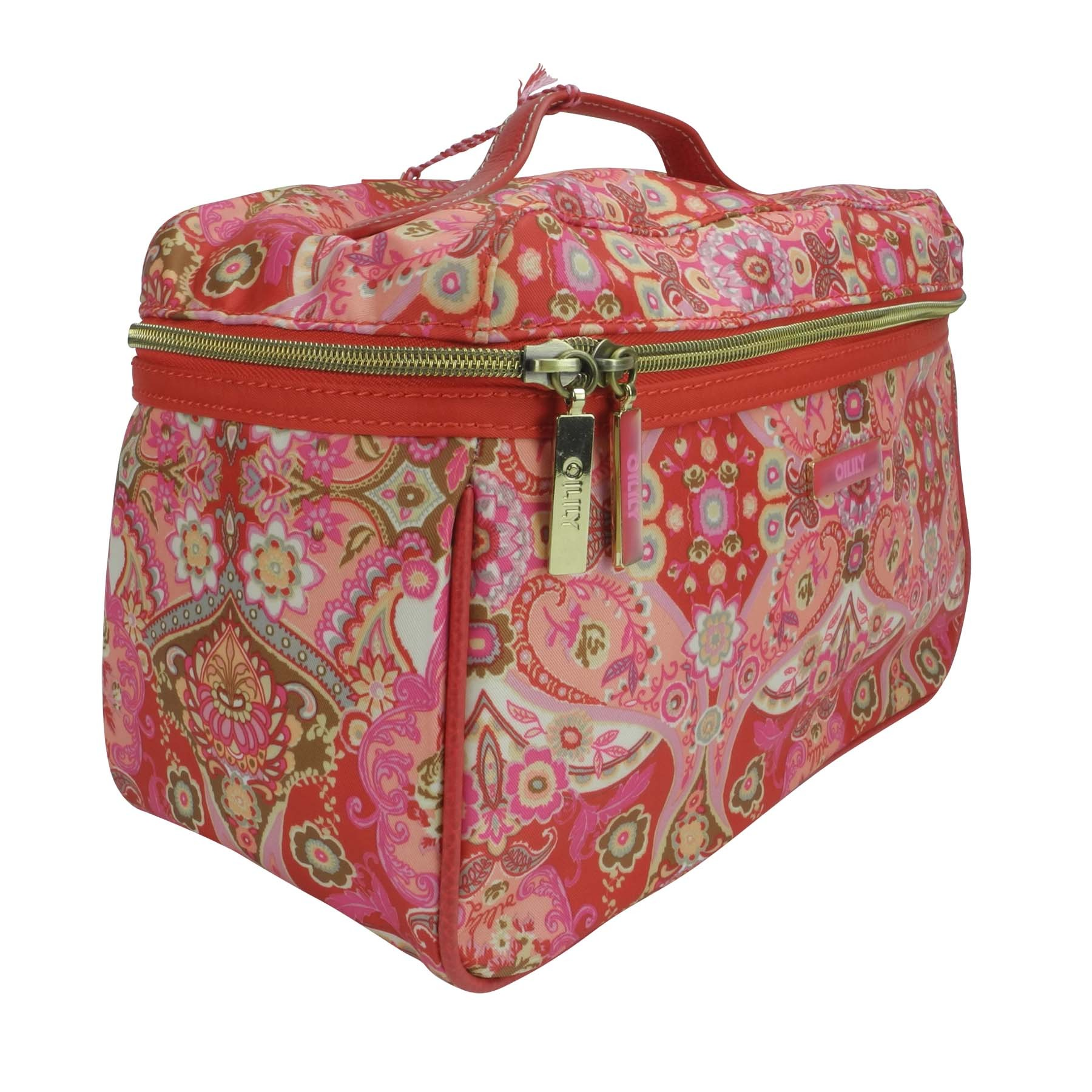 oilily summer mosaic kosmetiktasche l beauty case strawberry ebay. Black Bedroom Furniture Sets. Home Design Ideas