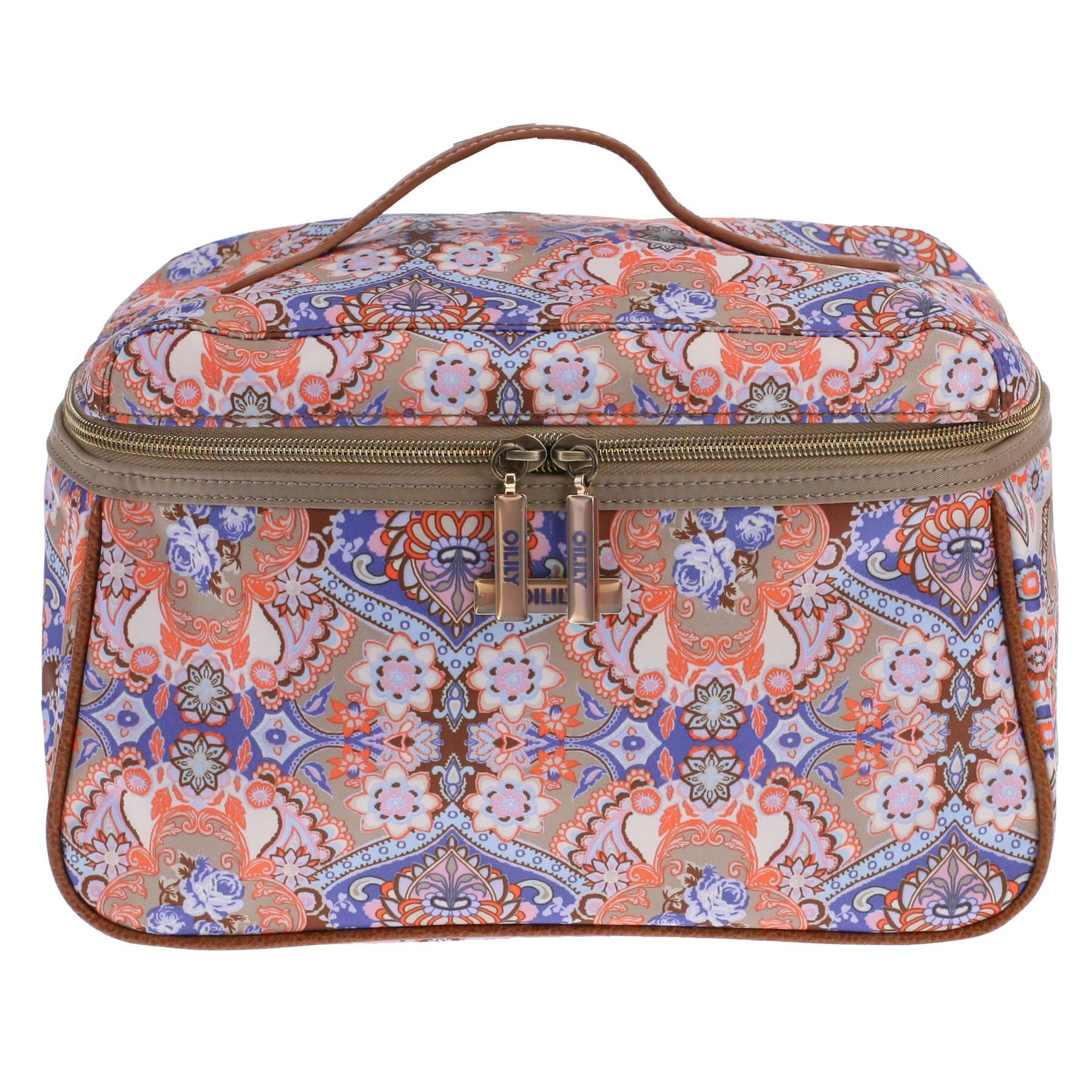 oilily summer mosaic kosmetiktasche l beauty case fig ebay. Black Bedroom Furniture Sets. Home Design Ideas