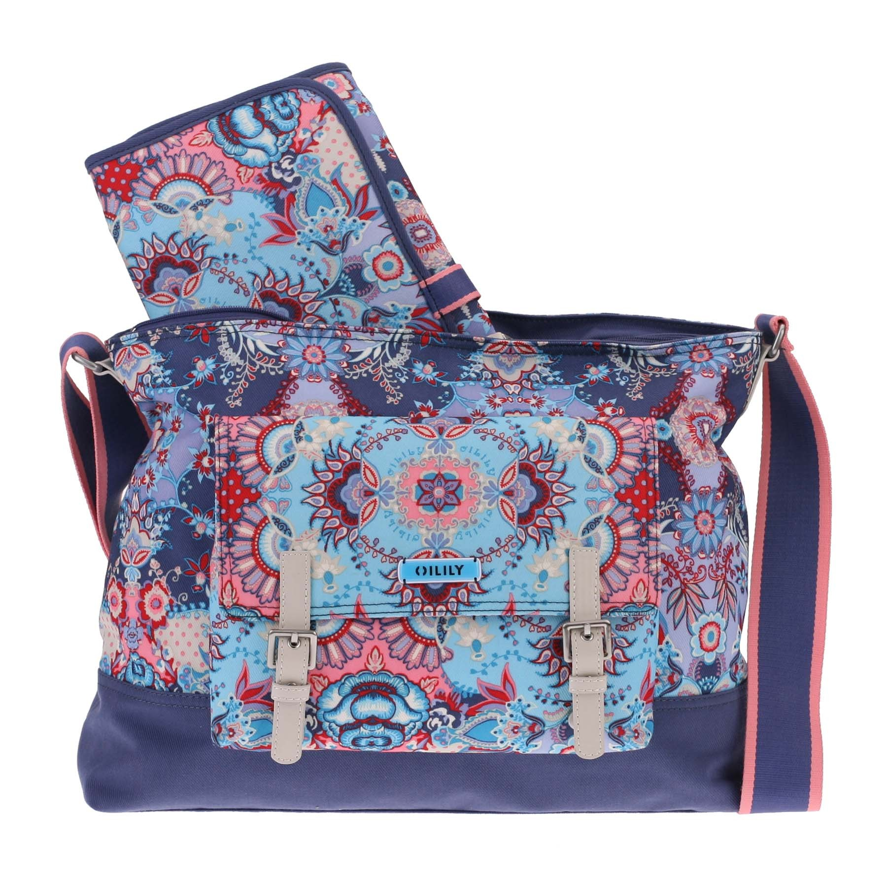 oilily wickeltasche baby bag kaleidoscope blau blue. Black Bedroom Furniture Sets. Home Design Ideas