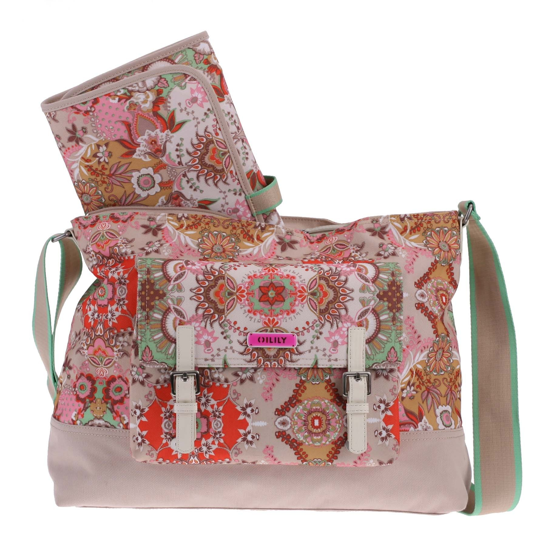 oilily wickeltasche baby bag kaleidoscope sand ebay. Black Bedroom Furniture Sets. Home Design Ideas