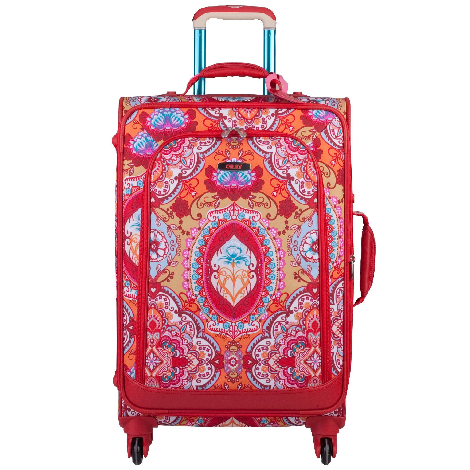 oilily travel 2013 lotus koffer m trolley 4 rollen erweiterbar 61 cm 64l ebay. Black Bedroom Furniture Sets. Home Design Ideas