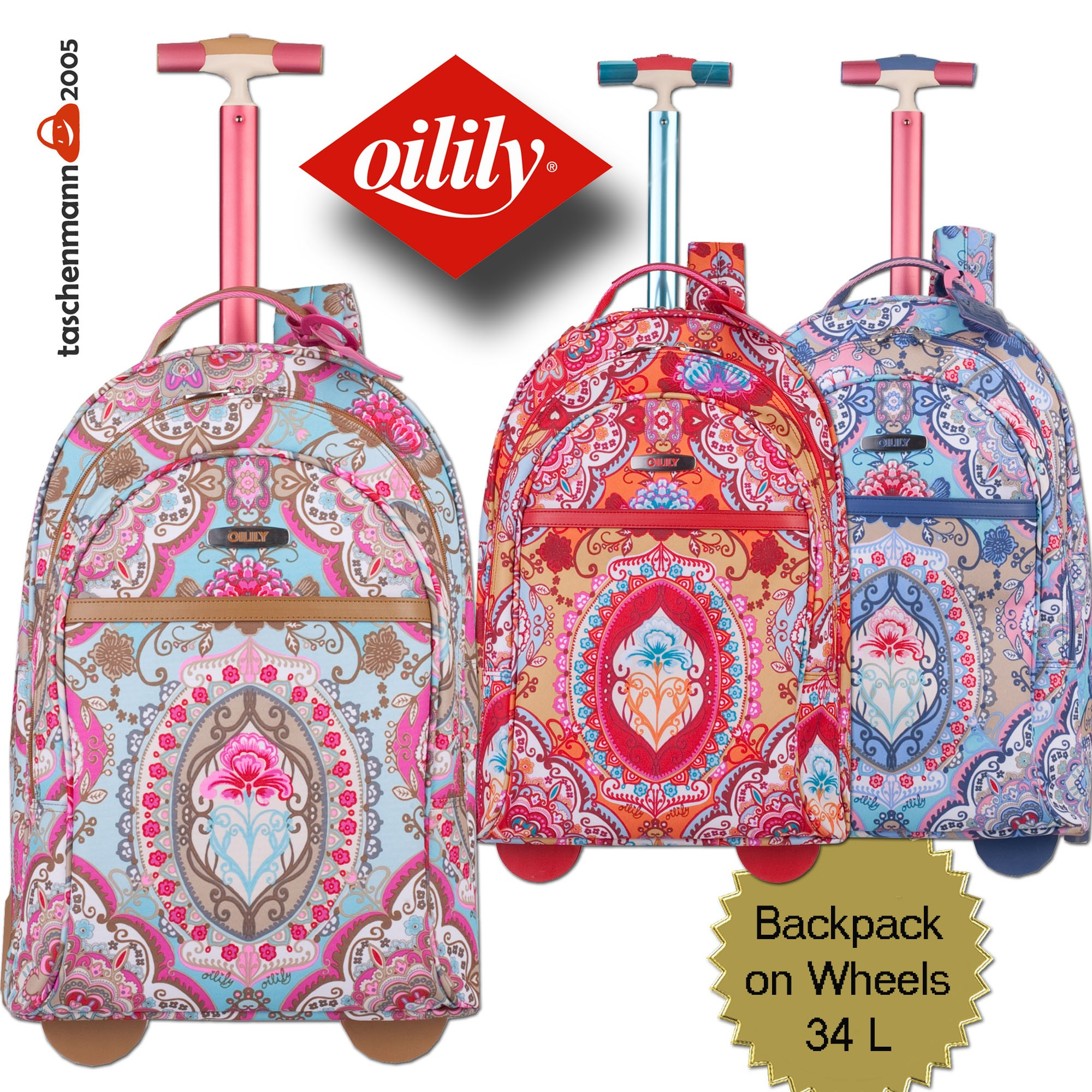 oilily travel 2013 lotus backpack on wheels rucksack 2. Black Bedroom Furniture Sets. Home Design Ideas