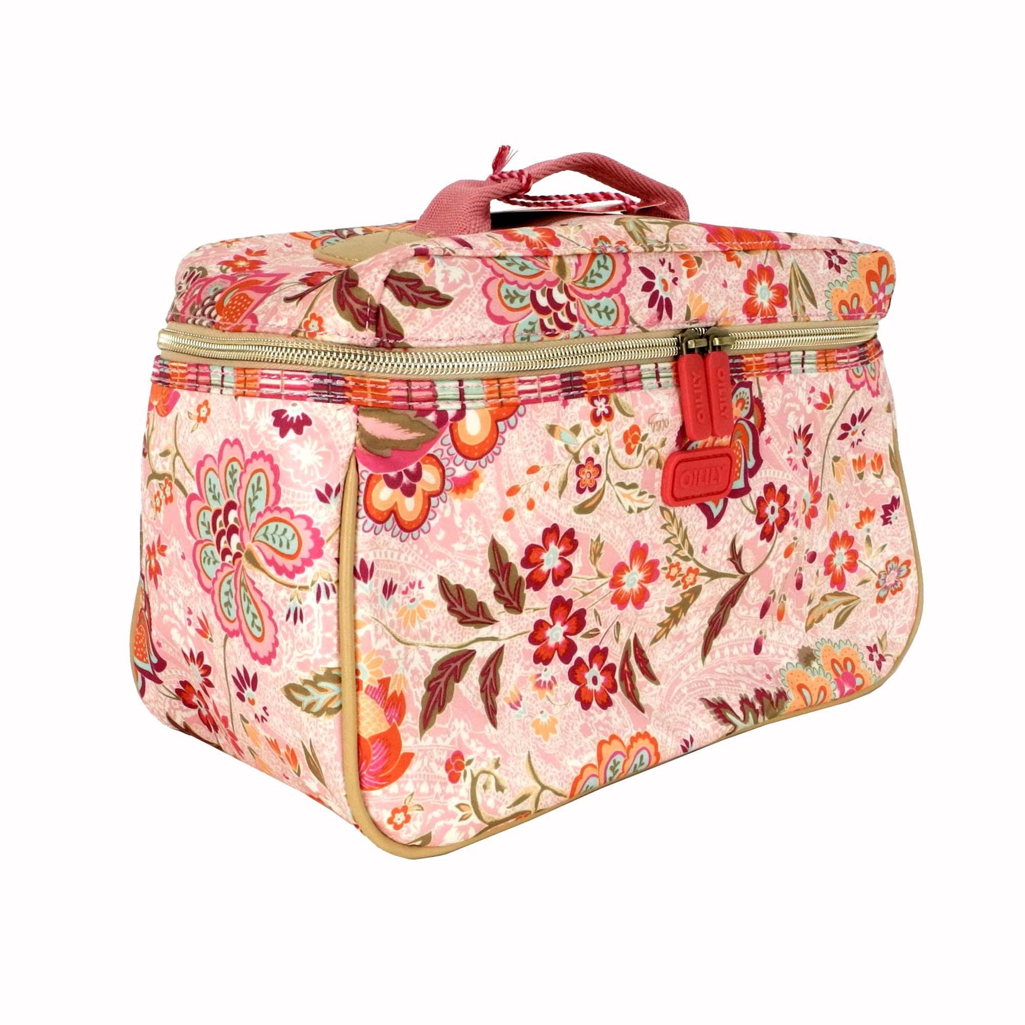 oilily summer blossom kosmetiktasche l beauty case peach ausverkauft. Black Bedroom Furniture Sets. Home Design Ideas