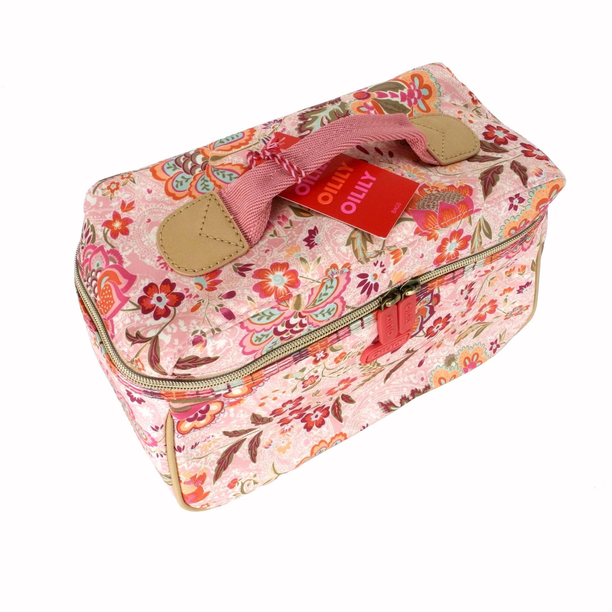 oilily kosmetiktasche l beauty case summer blossom peach pink ebay. Black Bedroom Furniture Sets. Home Design Ideas