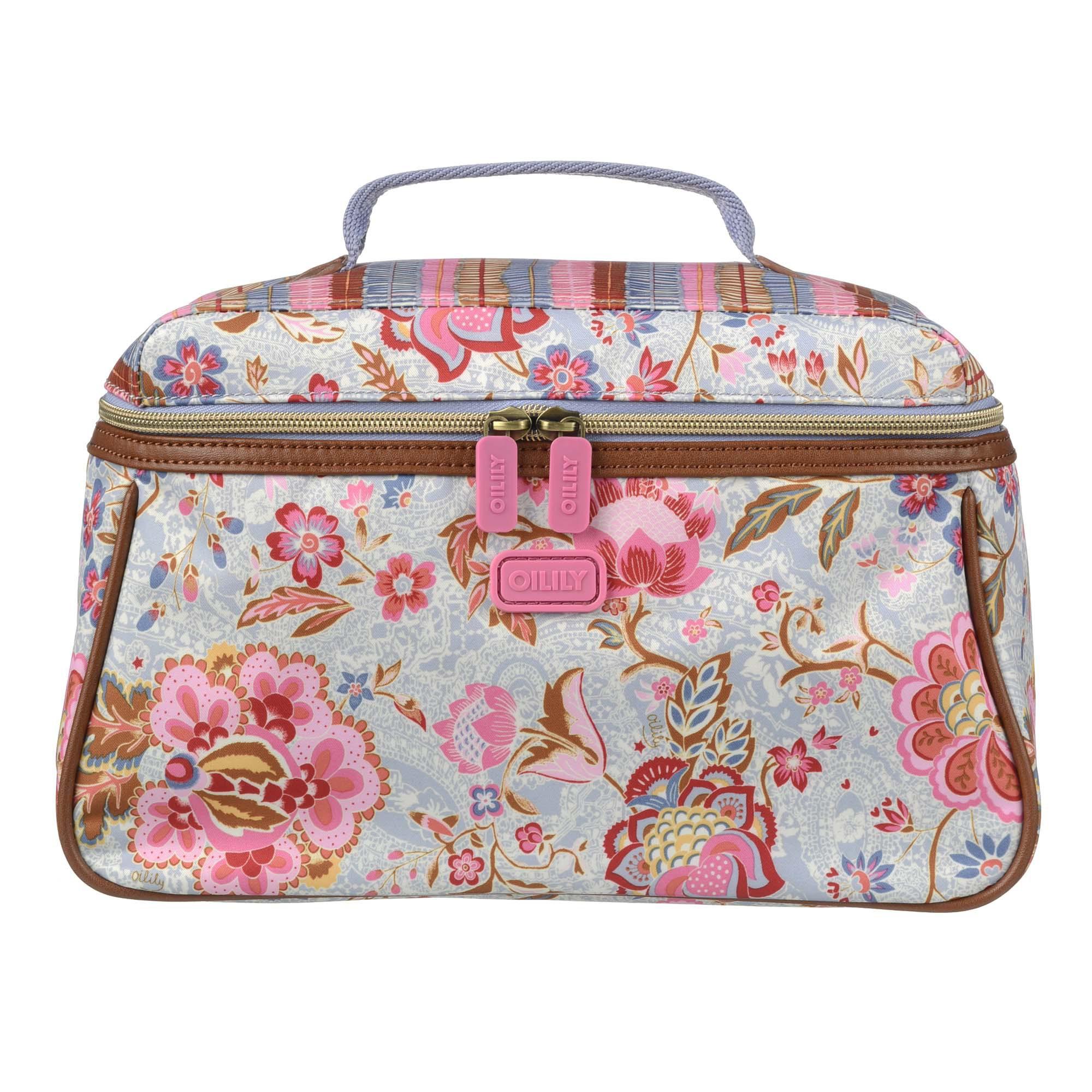 oilily kosmetiktasche l beauty case summer blossom sky hellblau ebay. Black Bedroom Furniture Sets. Home Design Ideas
