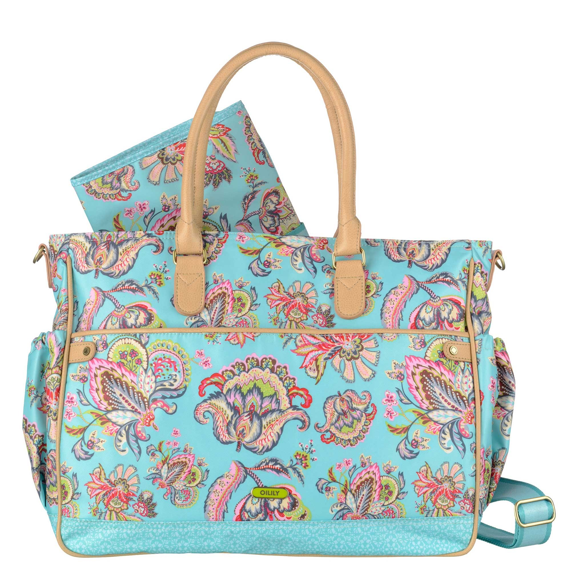 oilily summer flowers wickeltasche diaper bag baby bag. Black Bedroom Furniture Sets. Home Design Ideas