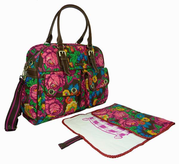 oilily tasche wickeltasche diaper bag braun pink gr ebay. Black Bedroom Furniture Sets. Home Design Ideas