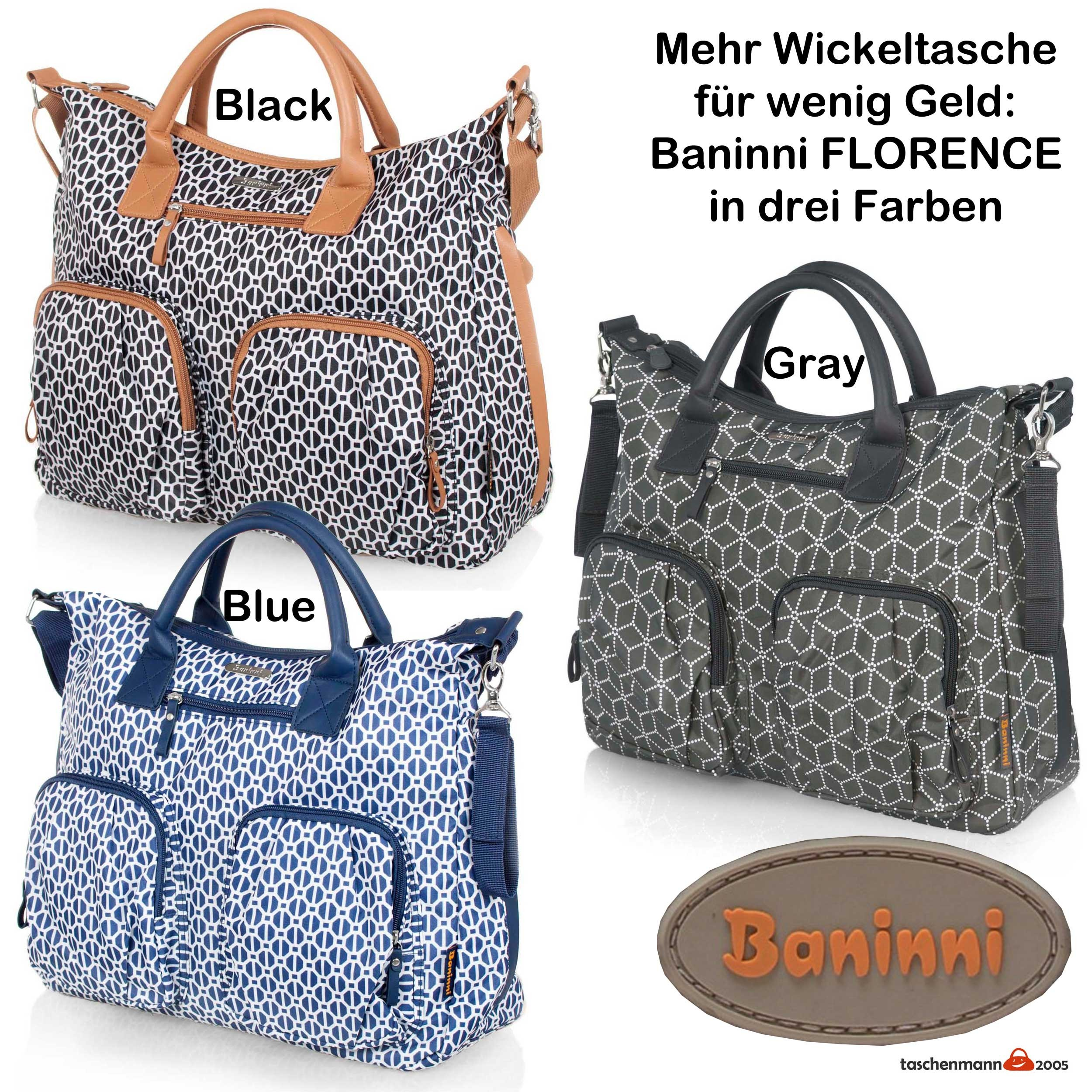 wickeltasche baninni florence in drei farben wickeltaschen baninni. Black Bedroom Furniture Sets. Home Design Ideas