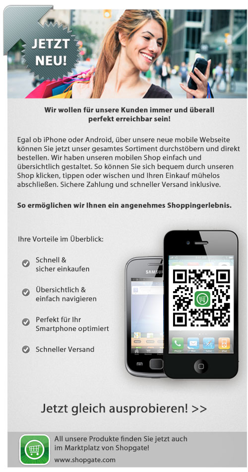 Unsere mobile Website