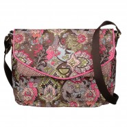Oilily French Paisley Satchel Schultertasche mit Tabletfach Moss