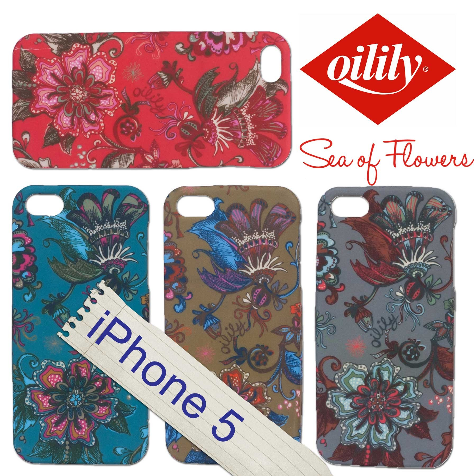 oilily iphone 5 5s h lle case hardcase tpu sea of. Black Bedroom Furniture Sets. Home Design Ideas
