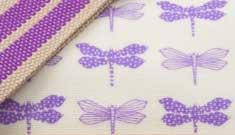 Pink Lining Purple Dragonflies